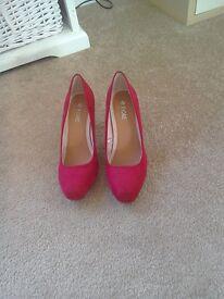 Dark pink suede heels size 7