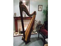 Alun Thomas 5-octave lever harp (2002) in trad Welsh style