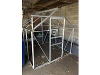 6ft x 6ft Glass Greenhouse