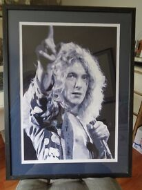ROBERT PLANT FRAMED ABSTRACT PRINT
