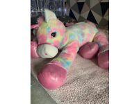 Giant unicorn soft toy