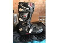 Fox comp 5 kids motocross boots Black size 7 uk eu 40