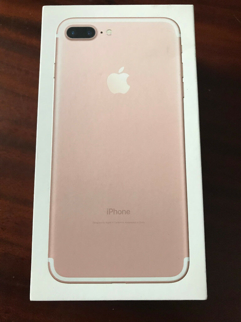 Apple iPhone 7 PLUS 128GB. Rose Gold. UNLOCKED. APPLE WARRANTY. BOXED