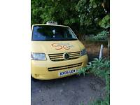 Hackney taxi vw transporter wheelchair access 2006