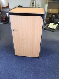 RECYCLING / SHREDDING CABINET LIGHT WOOD , LOCKABLE AND WITH CLOTH BAG INTERIOR - NORTHAMPTON