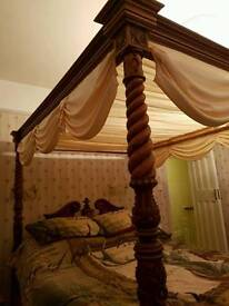 Four poster barley twist bed
