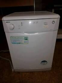 Beko white freestanding dishwasher
