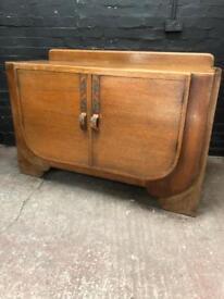 Fabulous Art Deco solid oak fitted sideboard