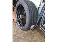 4x17 inch wheels wolfrace with brand new tyres
