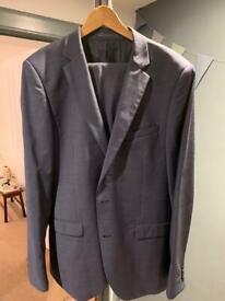Men's DKNY slim fit suit - light blue