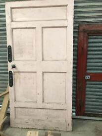 Door and clock