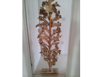 Large floor standing Wooden sculpture art work, approx 162cm high. BRAND NEW.