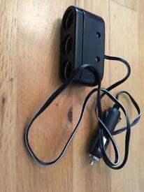 3 way cigarette lighter adapter