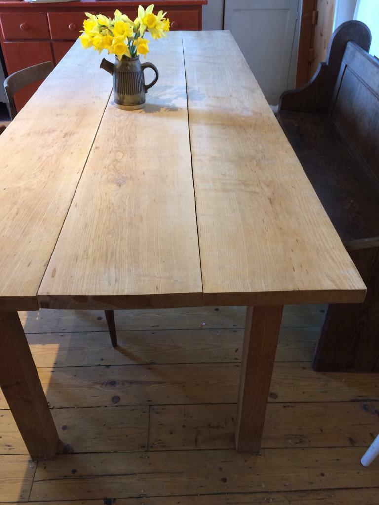 Plank 90 Cm.Large 8ft Long Solid Oak Plank Table In Southville Bristol Gumtree