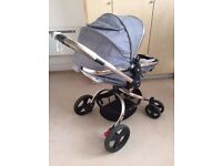 Mothercare Orb pushchair pram, stroller/carrycot grey with extras