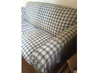 2 seater check sofa