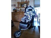 Gesslein 3-wheeler buggy pushchair for free (needs new tyres)