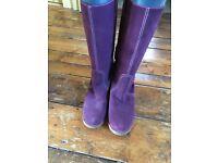 Hobbs purple suede boots.
