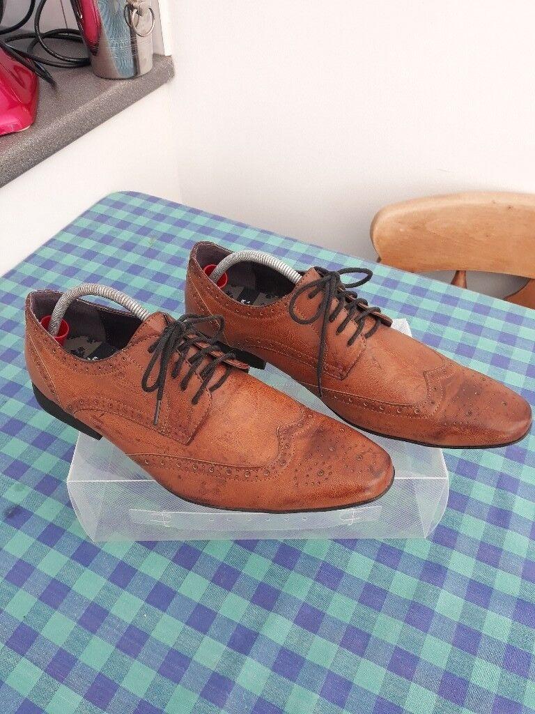a1cfcd8ea4d972 Burton Menswear London - Tan Leather Shoes - UK Size 10.5   Euro 45