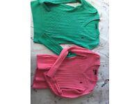 2 x small Ralph Lauren jumpers