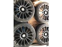 """17"""" black alloy wheels"""