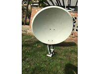 Rotatable satellite dish & Positioner
