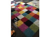 Large multi coloured rug