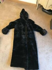 Black faux fur full length cost