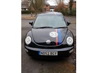 2002 VW Beetle Herbie 1.6 SE in Black with Body Decals hands free calls Bluetooth phone connection