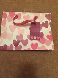 Love heart gift bag *new*