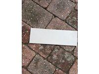 Grey skirting tiles