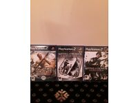 Play station 2 game medal of honour x 3