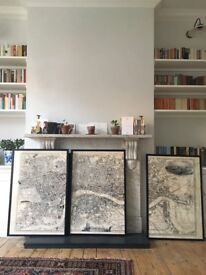 Stunning vintage map of London newly framed
