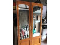 Solid wardrobe doors with safety backed mirrors