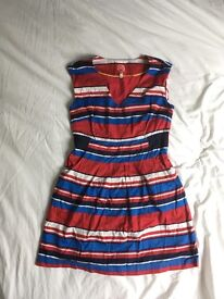 Red, Blue & White Joules Tunic Dress