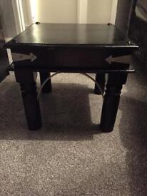 Black gloss bedside table
