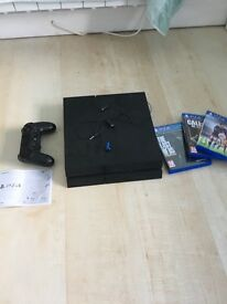 500GB Sony PlayStation 4 with 3 games