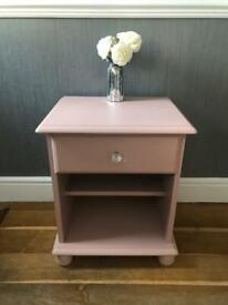 Decorative solid pine bedside cabinet