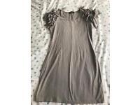 C grey bodycon dress by Rare 12