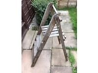 Vintage shabby chic step ladders. Prop. Wedding.
