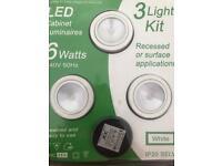 JCC LED white cabinet lights
