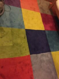 IKEA wool carpet. Needs some clean as used in children's play room.