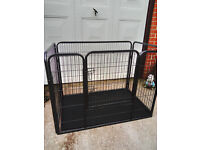 open top puppy pen