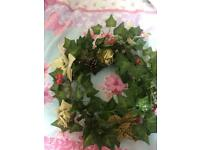 7 handmade wreaths for table centre pieces