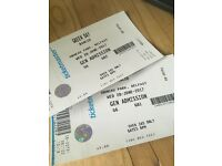 2 greenday tickets for sale for tonight 28th June belfast