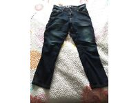 Ladies Black Bull-it Covec Motorbike Jeans Size 34S