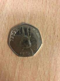 Beatrix potter rare peter rabbit half whisker coin