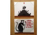 Banksy Art, Small Canvases