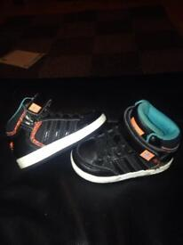 Adidas hi tops , toddlers size 4, £5