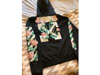 "Womens Off-White ""Floral"" Hoodie - Size L - Immaculate"